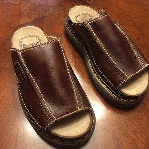 Doc Martens brown slip on sandals 6